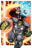 Indestructible Hulk 8 Cover Featuring Thor, Hulk Wall Decal by Walt Simonson