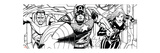 Avengers Assemble Inks Featuring Falcon, Captain America, Black Widow Photo