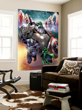 Contest of Champions 1 Cover with Maestro, Venom, Gamora, Iron Man, Thor (Female) & More Wall Mural by Paco Medina