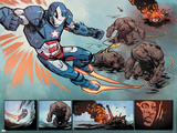 "Iron Patriot 1 Featuring Iron Patriot, James ""Rhodey"" Rhodes Posters by Garry Brown"