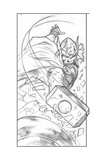 Avengers Assemble Pencils Featuring Thor Poster
