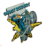 Marvel Comics Retro Badge Featuring Ghost Rider Prints