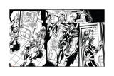 Avengers Assemble Inks Featuring Captain America, Iron Man, Hawkeye, Black Widow Prints