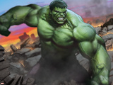 Avengers Assemble Artwork Featuring Hulk Plakater