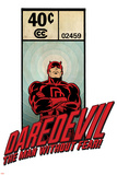 Marvel Comics Retro Badge Featuring Daredevil Posters