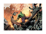 Avengers Assemble Artwork Featuring Hulk Poster