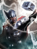 Avengers Assemble Artwork Featuring Thor Plastic Sign
