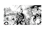 Avengers Assemble Inks Featuring Thor, Captain America, Hawkeye, Hulk, Iron Man Poster