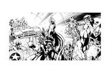 Avengers Assemble Inks Featuring Thor, Captain America, Hawkeye, Hulk, Iron Man Poster