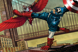Avengers Assemble Artwork Featuring Captain America, Falcon Posters