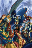 All-New, All Different Avengers 1 Cover Featuring Vision, Thor (Female) & More Plastic Sign by Alex Ross