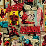 Marvel Comics Retro Pattern Design Featuring Daredevil Prints