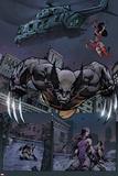 Savage Wolverine 7 Featuring Wolverine, Elektra Poster von Joe Madureira