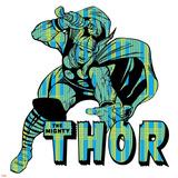 Marvel Comics Retro Badge Featuring Thor Posters