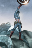 Ultimatum: X-Men Requiem 1 Featuring Captain America Print by Ben Oliver