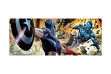 Avengers Assemble Panel Featuring Captain America, Ultron Posters