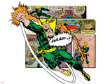 Marvel Comics Retro Badge Featuring Iron Fist Plastic Sign