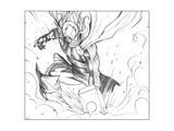 Avengers Assemble Pencils Featuring Thor Print