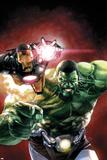 Indestructible Hulk #2 Cover Featuring Iron Man, Hulk Plastikskilte af Leinil Francis Yu