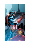 Avengers Assemble Panel Featuring Captain America, Iron Man Print