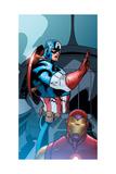 Avengers Assemble Panel Featuring Captain America, Iron Man Print