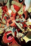 Deadpool Cover Featuring Deadpool, Lady Deadpool, Kidpool, Dogpool Plastic Sign