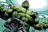 Avengers Assemble Panel Featuring Hulk Poster