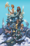 Astonishing X-Men 63 Featuring Iceman, Polaris, Pryde, Kitty, Cloud, Mystique, Tanaka, Opal Print