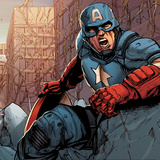 Avengers Assemble Panel Featuring Captain America Prints