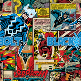 Marvel Comics Retro Pattern Design Featuring Black Bolt Posters