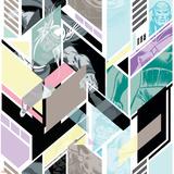 Marvel Comics Retro Pattern Design Featuring Hulk, Thor, Vision Prints