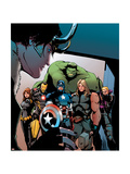 Avengers Assemble Artwork with Black Widow, Iron Man, Captain America, Thor, Hulk, Hawkeye, Loki Poster