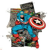 Marvel Comics Retro Badge Featuring Captain America Posters