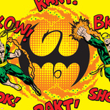 Marvel Comics Retro Pattern Design Featuring Iron Fist Poster