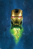 Iron Man 5 Cover Featuring Iron Man Plastic Sign by Greg Land