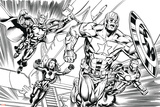 Avengers Assemble Inks Featuring Iron Man, Captain America, Thor, Black Widow Posters