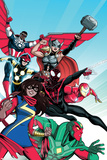 All-New, All Different Avengers 1 Cover Featuring Vision, Thor (Female) & More Print by Luciano Vecchio