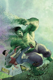 Indestructible Hulk 14 Cover Featuring Hulk, Bruce Banner Plastic Sign by Mukesh Singh