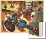 Captain America 19 Featuring Captain America, Steve Rogers Wood Print by Nic Klein
