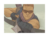 Avengers Assemble Panel Featuring Hawkeye Poster