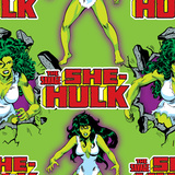 Marvel Comics Retro Pattern Design Featuring She-Hulk Posters