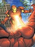 Avengers Assemble Artwork Featuring Iron Man Plastic Sign