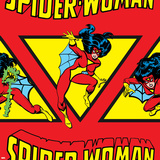 Marvel Comics Retro Pattern Design Featuring Spider Woman Prints