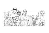 Avengers Assemble Pencils with Hulk, Thor, Iron Man, Tony Stark, Captain America & More Prints