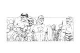 Avengers Assemble Pencils with Hulk, Thor, Iron Man, Tony Stark, Captain America & More Prints