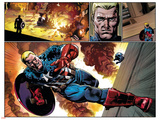 Captain America 19 Featuring Captain America, Steve Rogers Plastic Sign by Nic Klein
