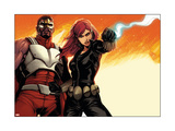 Avengers Assemble Panel Featuring Falcon, Black Widow Posters