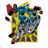 Marvel Comics Retro Badge Featuring Ghost Rider Photo