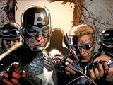 Avengers Assemble Panel Featuring Captain America, Hawkeye Print