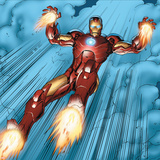 Avengers Assemble Panel Featuring Iron Man Prints